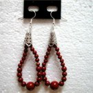 """Handmade jewelry Jasper dangle pierced earring 2"""""""