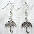 Metal umbrella charm earring