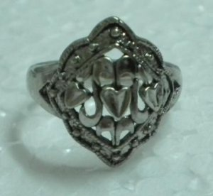 Metal ring fashion ring filigree ring US 9