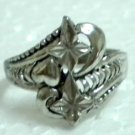 Metal ring fashion ring filigree ring US 8.5