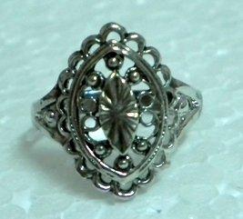Woman Jewelry Metal ring fashion ring filigree ring US 8.5
