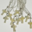 MOP Mother of pearl cross pendant necklace party gift 1pc