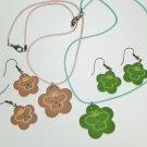 Girl's jewelry flower necklace earring set