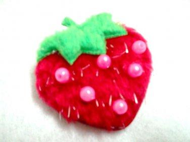 Kid's strawberry brooch