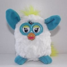 HK McDonald's Happy Meal Toy:2014 FURBY BOOM PLUSH WHITE & BLUE