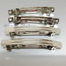 4 Hair clip, barrette, French hair grip, findings, 80x8mm for DIY projects craft supply