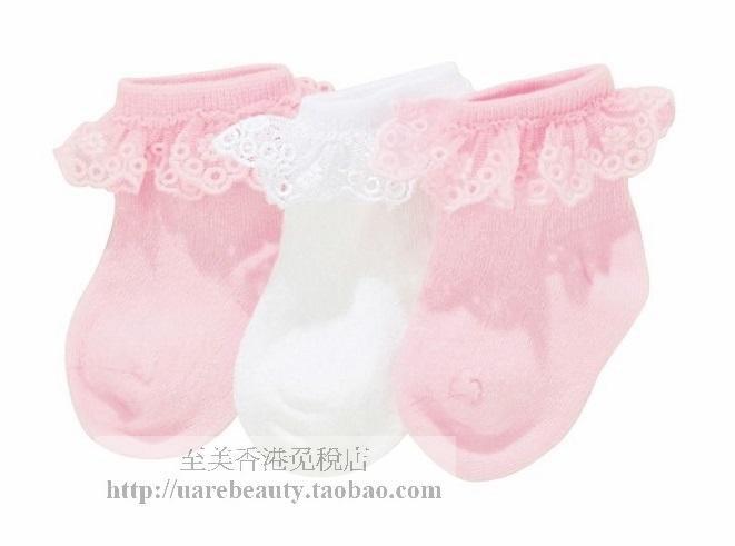 NEXT Baby girl infant pink & white socks 3 pairs set NEW