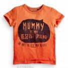 NEW NEXT boy MUMMY IS MY BESTEST FRIEND print short sleeve T-shirt  toddler 4-5 yrs