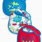 NEW NEXT baby infant boy Bib Velcro Fasteners Closure 3 pcs SET