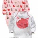 NEW NEXT Baby girl infant long sleeve pink kitten bodysuit 18-24 months 2 PCS SET