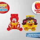 HK McDonald's Happy Meal Toy 2014 Ronald McDonald & Birdie Shoelace Buddies