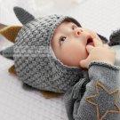 NEW NEXT Baby boy infant grey dino knit hat