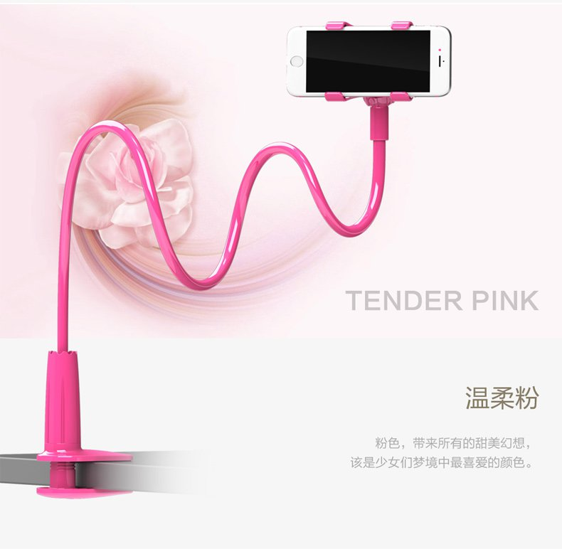 138cm 54.25 inches Cell Phone Holder,  Flexible Clip clamp Lazy Arm Bracket for Smartphones