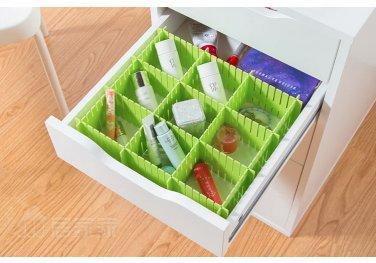 Adjustable DIY Grid Clapboard Divider Drawer Closet Storage Organizer 4pcs/SET