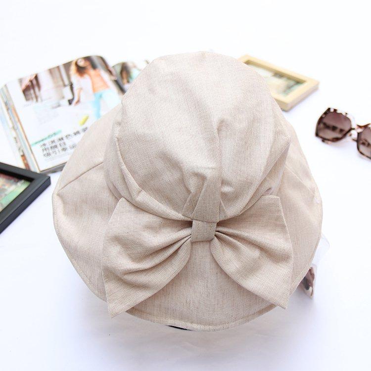 Wide Brim Summer Sun Flap Bill Cap Cotton Hat Neck Cover  For Women