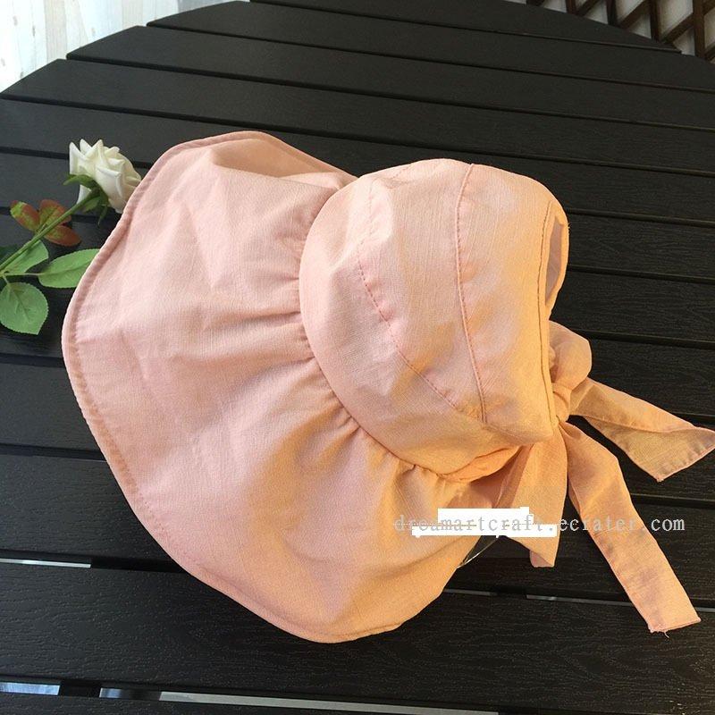 Outdoor woman Wide Brim Summer Sun visor empty top Hat Neck Cover