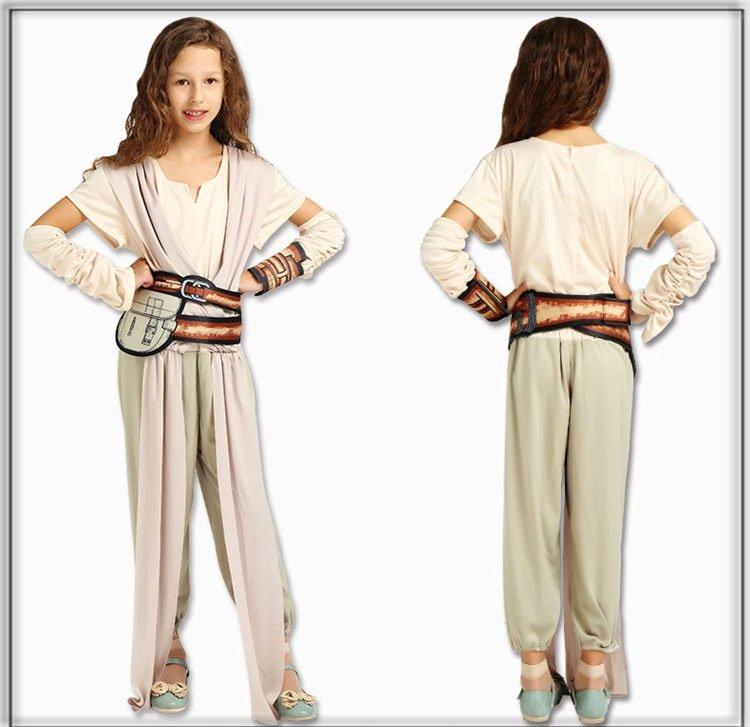 Cosplay Star Wars Rey Costume set for girls