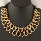 Fashion Charm Chunky Crystal Statement Bib Chain Crusader Necklace Jewelry