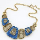 Fashion Charm Chunky Metal Statement Bib Chain Necklace Woman Jewelry