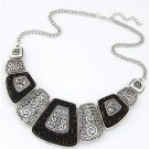 Charm Chunky Metal Statement Bib Chain Fashion Necklace Woman Jewelry