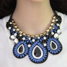 Fashion Charm Chunky Resin Statement Bib Bohemia Necklace Woman Jewelry
