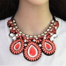 Fashion Charm Resin Statement Bib Bohemia Chunky Necklace Woman Jewelry