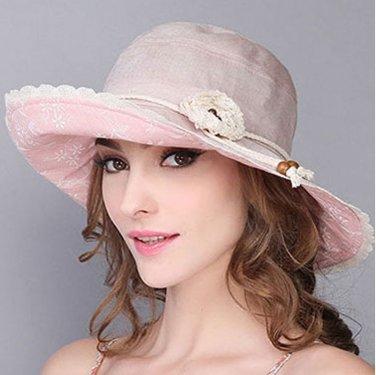 Fashion Woman Summer Sun protection anti UV Wide Brim fishing fisherman hat