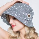 Woman Summer Sun protection anti UV floral fishing fisherman hat