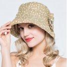 Woman Summer Sun protection anti UV travel floral fishing fisherman hat