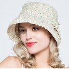 Woman Summer Sun protection anti UV Sweet floral fishing fisherman hat