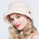 Woman Summer Sun protection anti UV floral floppy fishing fisherman hat