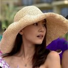 Handmade Woman Summer WIDE BRIM outdoor fishing straw sun hat