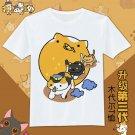 Japan anime cute Neko Atsume graphic T-Shirt