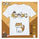 Japan cute anime Neko Atsume graphic T-Shirt