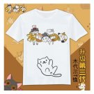 Anime Japan cute Neko Atsume graphic T-Shirt