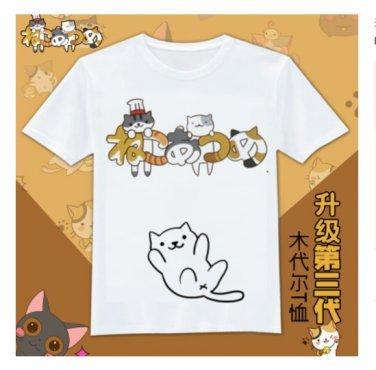 Anime Japan cute Neko Atsume graphic T-Shirt