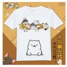 KIDS Japan cute cartoon Neko Atsume graphic T-Shirt