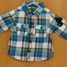 NEW NEXT Baby boy infant long sleeve check shirt 3-6month