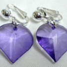 Acrylic heart clip on earring
