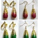 Girl jewelry faux pearl teardrop dangle earring