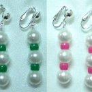 Plastic beads clip on earring