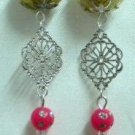 Beads dangle clip on earring