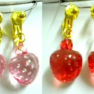 Strawberry clip on earring