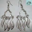 Leaf charm dangle earring
