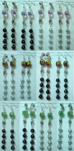 Handmade glass bead dangle earring
