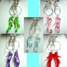 Handmade hoop high heel dangle clip on earring