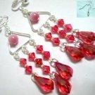 Victoria  cat eye bead chandelier earring