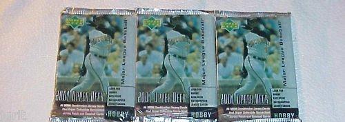 3 new 2001 UPPER DECK ud HOBBY MLB baseball PACK sealed
