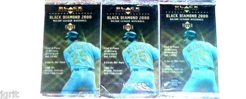 3 new 2000 BLACK DIAMOND baseball HOBBY PACK - sealed