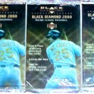 3 new 2000 BLACK DIAMOND baseball HOBBY PACK - sealed
